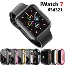 Case For Apple watch 7 case 41mm 45mm 44mm 40mm 42mm 38mm Accessories Full  TPU Bumper Protector Cov