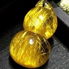 Natural Gold Rutilated Quartz Gourd Wealthy Pendant 36.20.16mm Crystal Rutilated Jewelry Women Men B