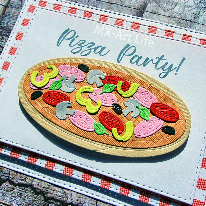 Troqueles de corte de Metal para Pizza, 2020 vegetales, plantilla de comida deliciosa para DIY, tarjeta de Scrapbooking decorativa