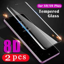 2 шт., закаленное защитное стекло для samsung Galaxy S10 S9 S8 plus Note 10 plus S7 edge