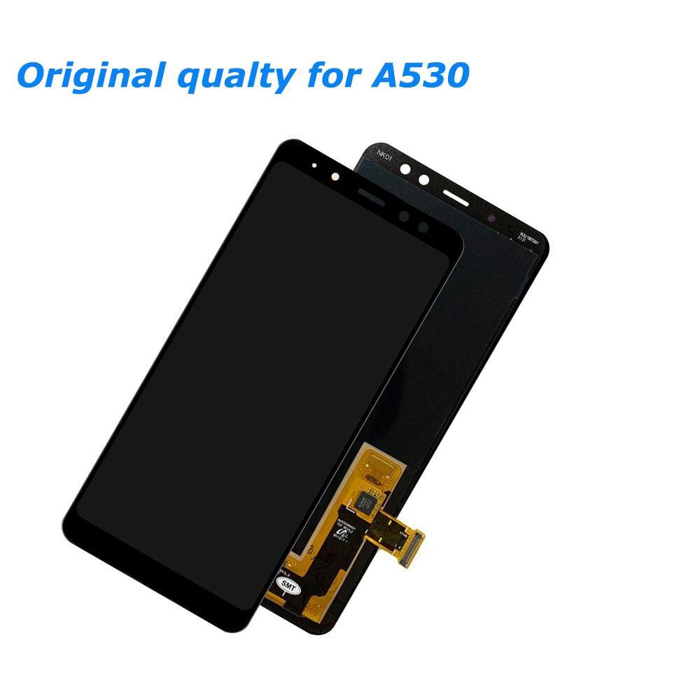 5.6 INCH ORIGINAL SUPER AMOLED LCDs Display For Samsung Galaxy A8 2018 A530 A530F A530DS A530N SM-A530N LCD Display Touch Screen enlarge