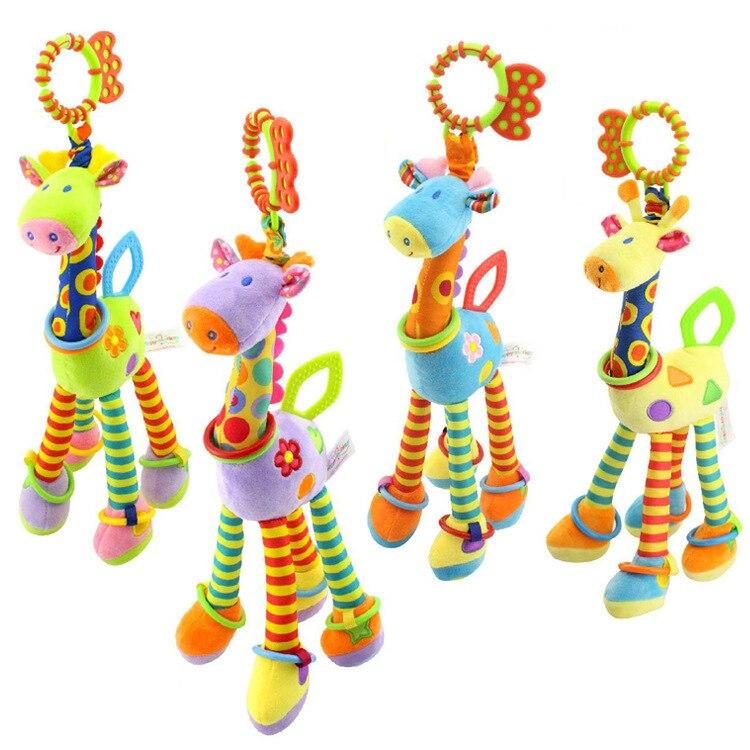 chocalho para carrinho de bebe brinquedo movel de pelucia boneco fofo de animal berco