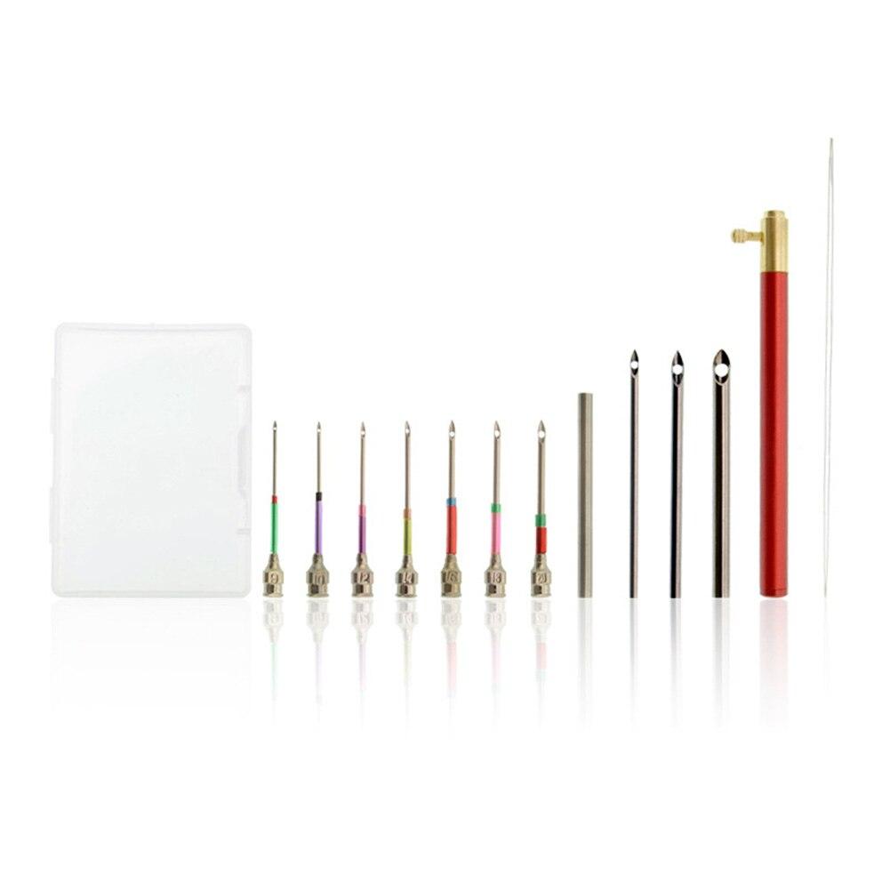 Kit de puntadas de bordado de fieltro, Aleación de galvanoplastia de retales hechos a mano con aguja perforadora portátil, herramienta de costura artística DIY