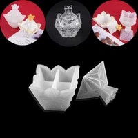 transparent silicone mould pyramid decorative craft resin mold diamond storage box epoxy resin molds for diy jewelry making mold