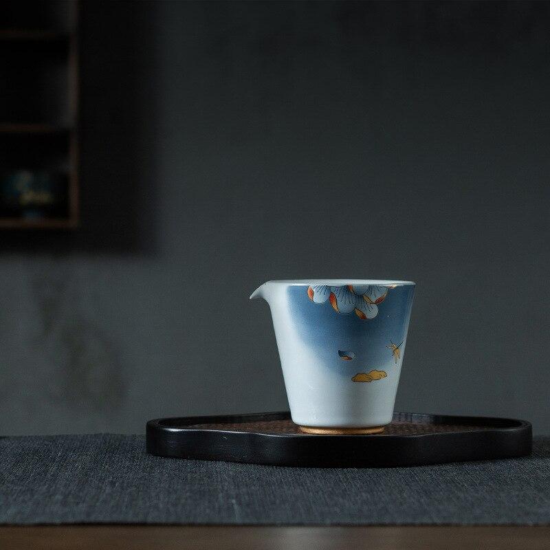 أزور Ruihe عادل القدح عادل كوب نمط الخزف الكونغ فو الشاي مجموعة كبيرة الشاي إبريق الشاي وعاء الشاي Infusers Chahai الشاي الملحقات