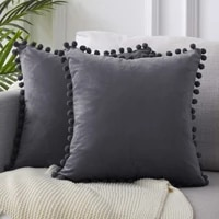 cushion cover explosion style modern minimalist chair cushion lace pillow velvet solid color sofa short plush seat cushion