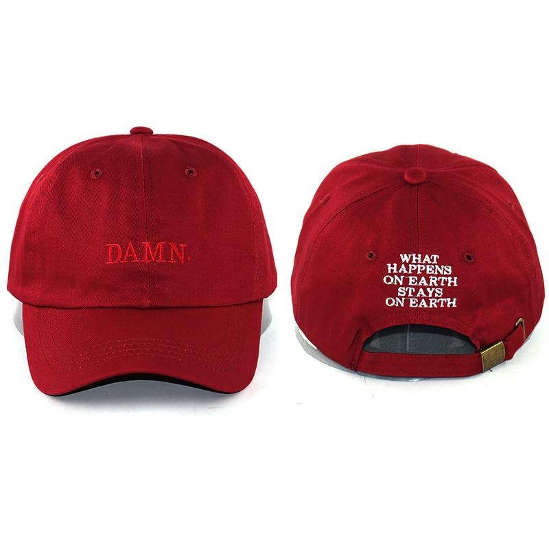 Unisex fashion damn dad hat letter embroidery Kendrick lamar Rapper hip hop baseball cap cotton adjustable curved caps
