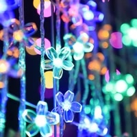 102030 leds cherry blossom string lights crystal flowers twinkle garlands fairy lamp christmas holiday party wedding decor