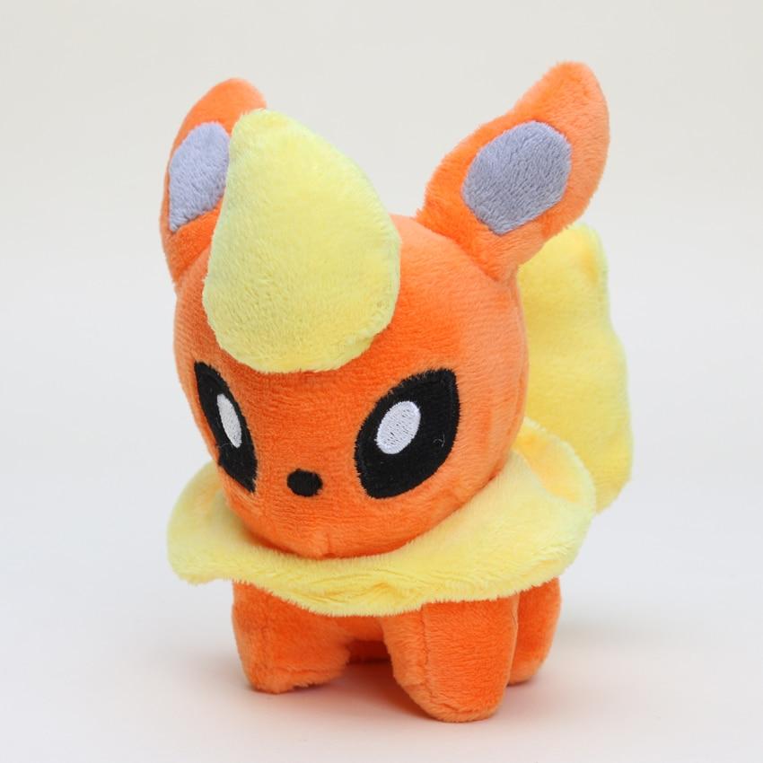 Wholesale Cheap Toy 50pcs/lot 12cm Poke Doll Plush Toys Flareon Stuffed Animals Plush Doll Gifts for Children