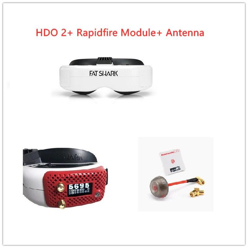 FatShark Dominatior HDO2 FPV очки + ImmersionRC модуль rapidFIRE + immersionrc SpiroNET v2 разнообразие 2 антенны комплект