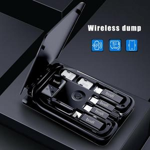 Многофункциональный универсальный контейнер для хранения смарт-карт BUDI, 15 Вт, Беспроводная зарядка для iPhone, Xiaomi, дорожная Портативная сумка...