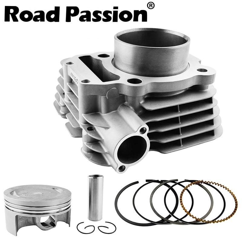 Road Passion Motorcycle Engine Cylinder + Piston Rings Kit 74mm (Cylinder diameter) For Yamaha YBR250 2007 2009 XT250 1YB