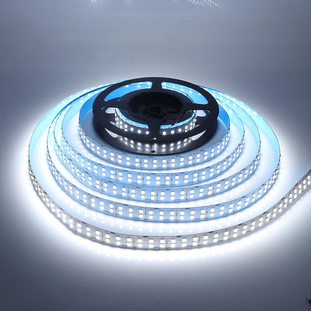 Double Row Led Strip Light SMD 2835 12V 24V 5m Waterproof Cold White/Natural White/Warm White 240LED