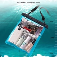 s ikrr large new waterproof case pvc beach bags multi use sports bag for phone towels swimming diving surf hermetic bag travel