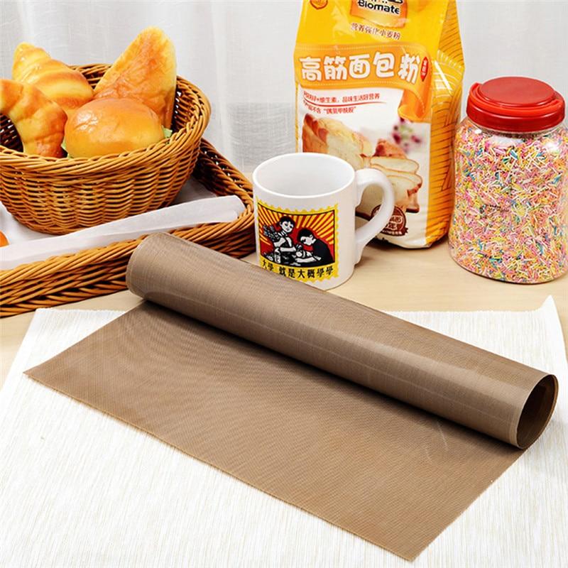 Almofada resistente ao calor do oilpaper do cozimento da pastelaria da folha resistente do teflon da esteira reusável de alta temperatura antiaderente do cozimento para o bbq exterior