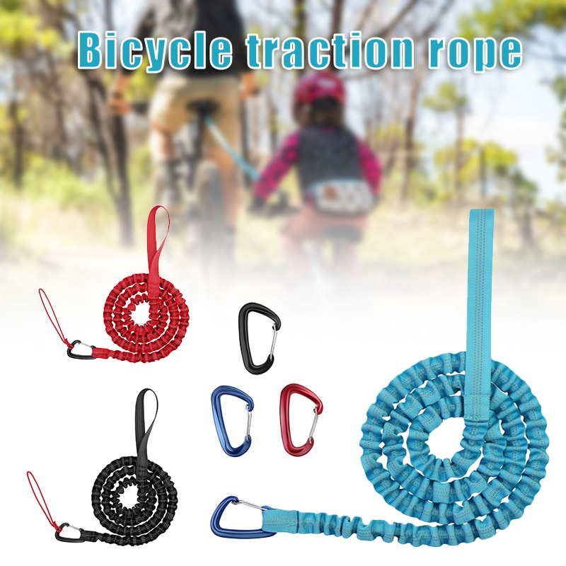 Bike Bungee Tow Rope for Kids Cycling Stretch Pull Strap for Riding Further with Your Compatible with Any Bicycle