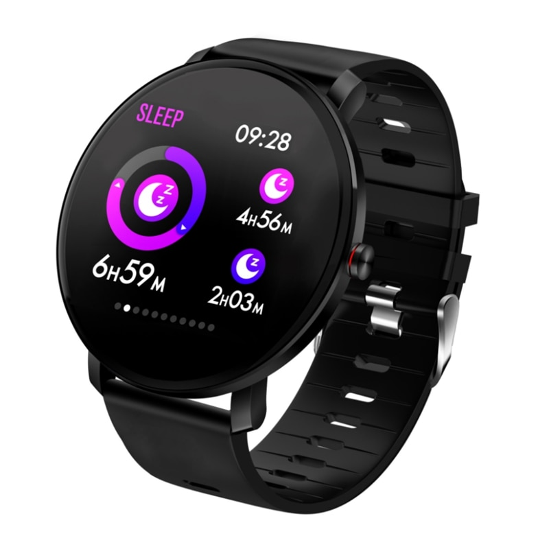 Reloj inteligente K9 brazalete deportivo con Bluetooth probador de ritmo cardíaco podómetro al aire libre-Negro