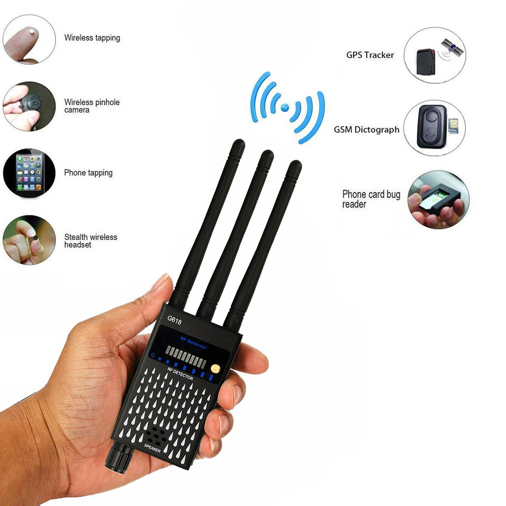 1-8000MHz Multi-function Anti-spy Detector Camera GSM Audio Bug Finder GPS Signal lens RF Tracker Detect Wireless Device Finder enlarge