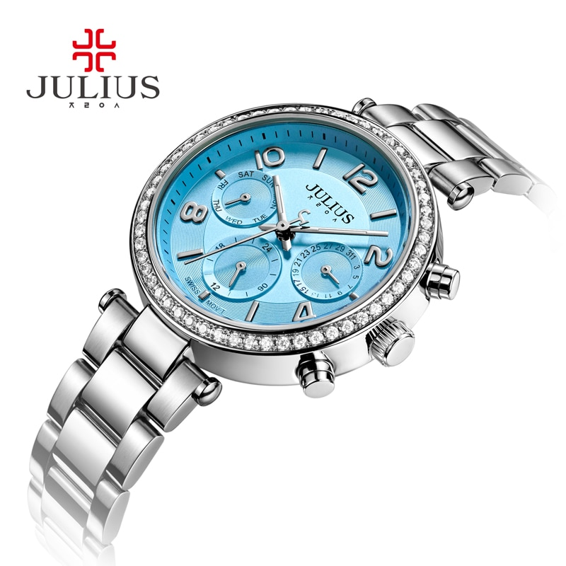 2017 New Watch Relogio Feminino Female Clock Auto Day Date 24 Hour Stainless Steel Silver Gold Women Fashion Casual Watch JA-950 enlarge