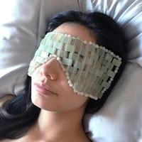 massage eye mask jade mask eye massager blindfold curtain improve skin hand woven ice cold relieve eye fatigue face