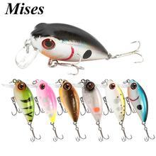 Mises 3.8cm 3.4g on renkler Mini yüzen biyonik krank küçük yağ cazibesi yapay yem sert yem balıkçılık cazibesi wobbler