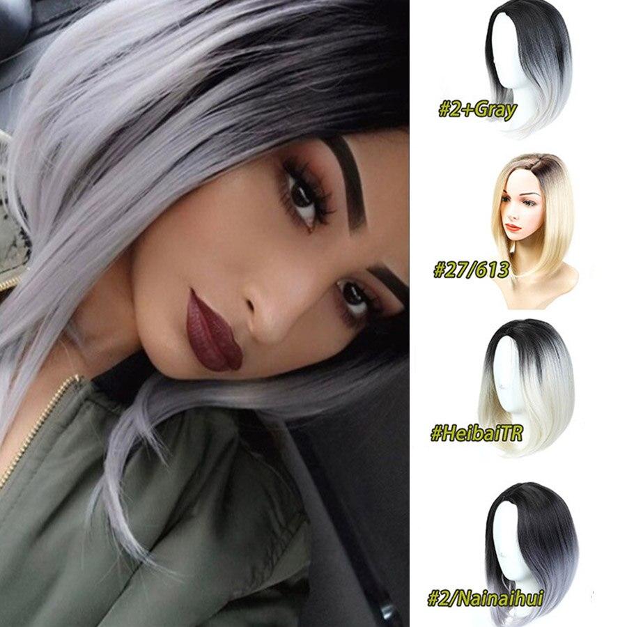MUMUPI peluca recta marrón negro Rosa gris 13 colores sintético moda para el cabello pelucas largas Bob para mujeres de alta calidad colores Ombre venta