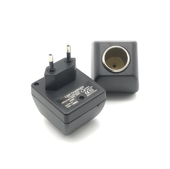 EU 220V To 12V 6W Car Charger Cigarette Lighter Socket Power Adapter 220V Main Plug To 12V Car Acces
