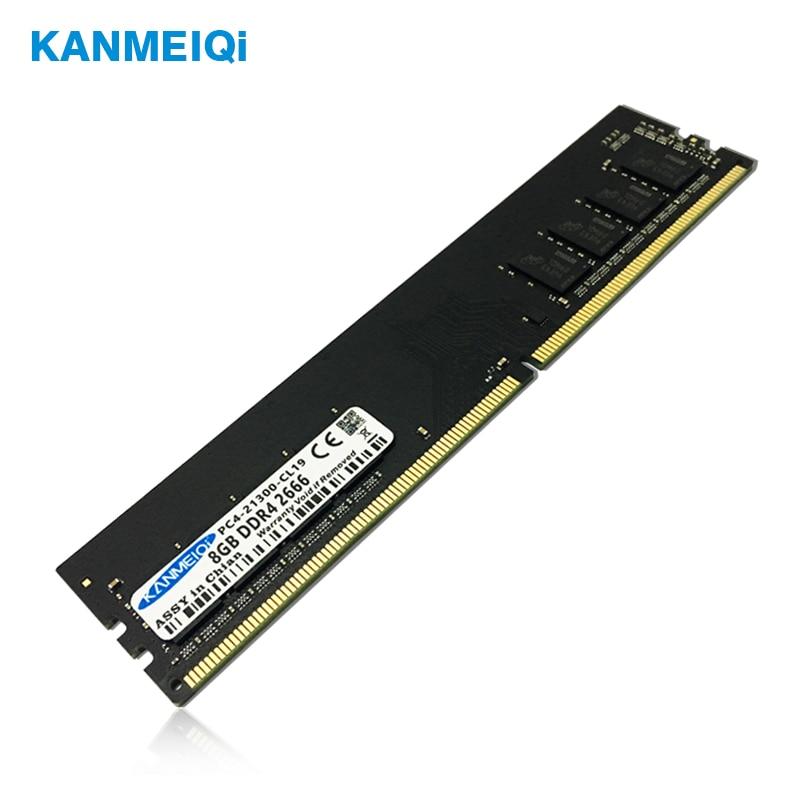 Ram ddr3 de kanmeiqi 2gb 4gb 8gb 1333mhz 1600mhz ddr4 4gb 8gb 2133/2400/2666mhz memória do desktop memoria 240pin 1.5v dimm novo