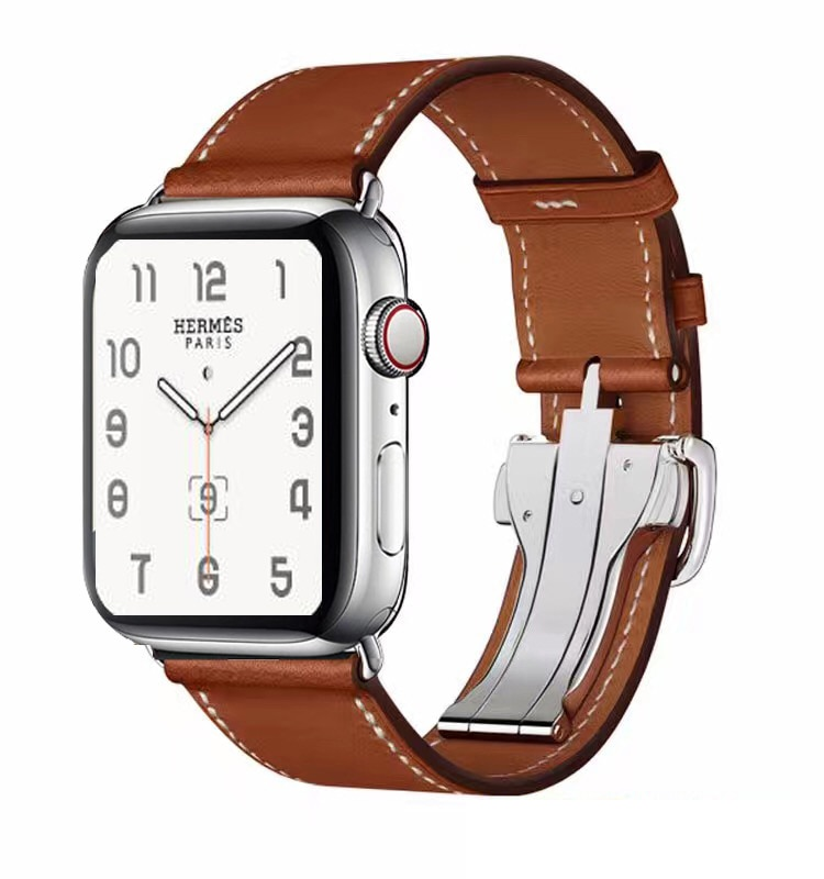 New Single Tour Deployment Band for Apple Watch 38mm 42mm 40mm 44mm for Iwatch Strap Series 6 Se 5 4 3 2 1 Leather Loop enlarge