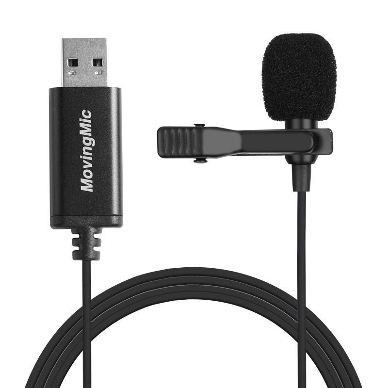 Microfone para Computador Estéreo para Computador Reta com Cabo de 1.5m Mini Tomada Portátil Clip-on Omni-direcional Microfone pc Usb