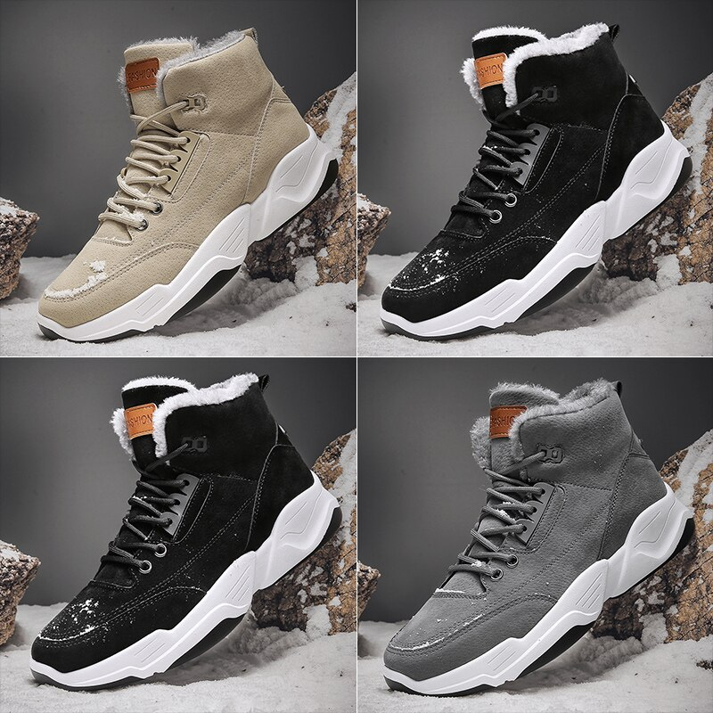 Abhoth The Winter Men's Boots Shoes Snow Boots Plus Velvet Warm Boots Plus Cotton Men's Shoes Trendy Shoes High-top Outdoor Boot
