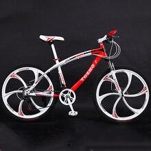 21/24/27 Variabele Snelheid Mountainbike 24/26 Inch Volwassen Aluminiumlegering Mes Wiel Dubbele Schijfrem Fiets Road Racing