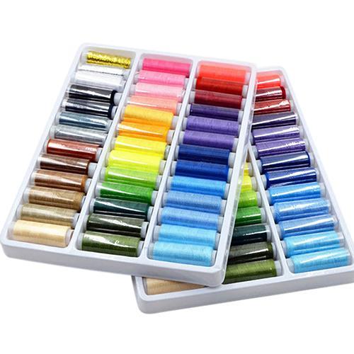 Vendas quentes! Máquina de costura 100% poliéster, 39 peças cores misturadas, 200 quintal, costura, bordado, linha