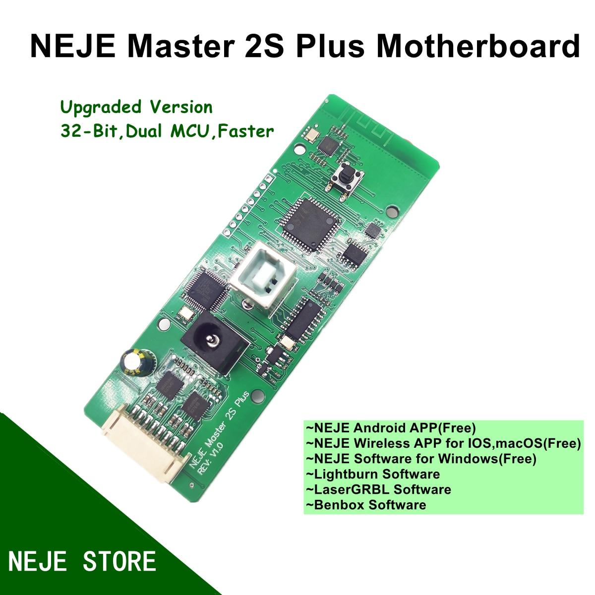 NEJE-استبدال اللوحة الرئيسية Master 2S Plus ، 30W/40W ، لـ Master 2S Plus ، آلة القطع بالليزر ، آلة القطع ، النقش ، الإضاءة ، Bonbox ، LaserGRBL