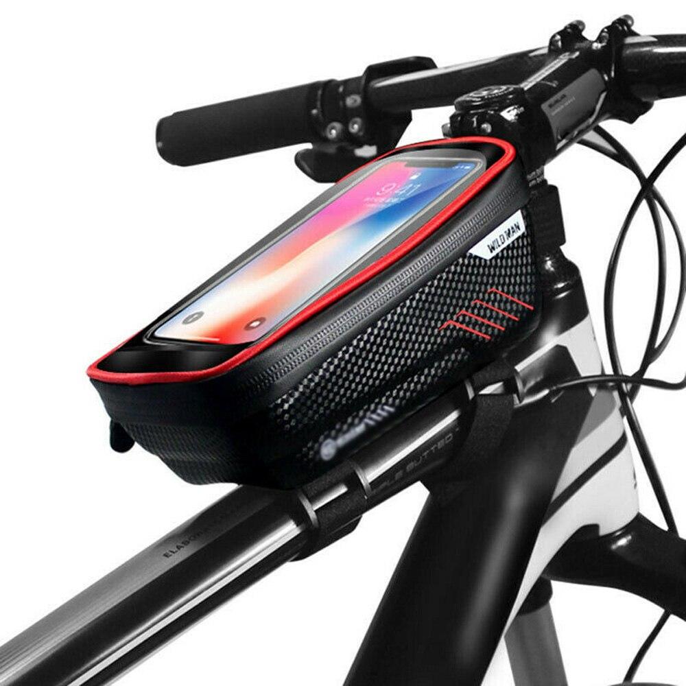 WILDMAN-funda para teléfono con pantalla táctil, bolsa para tubo delantero, resistente al agua, 4,7-6,5