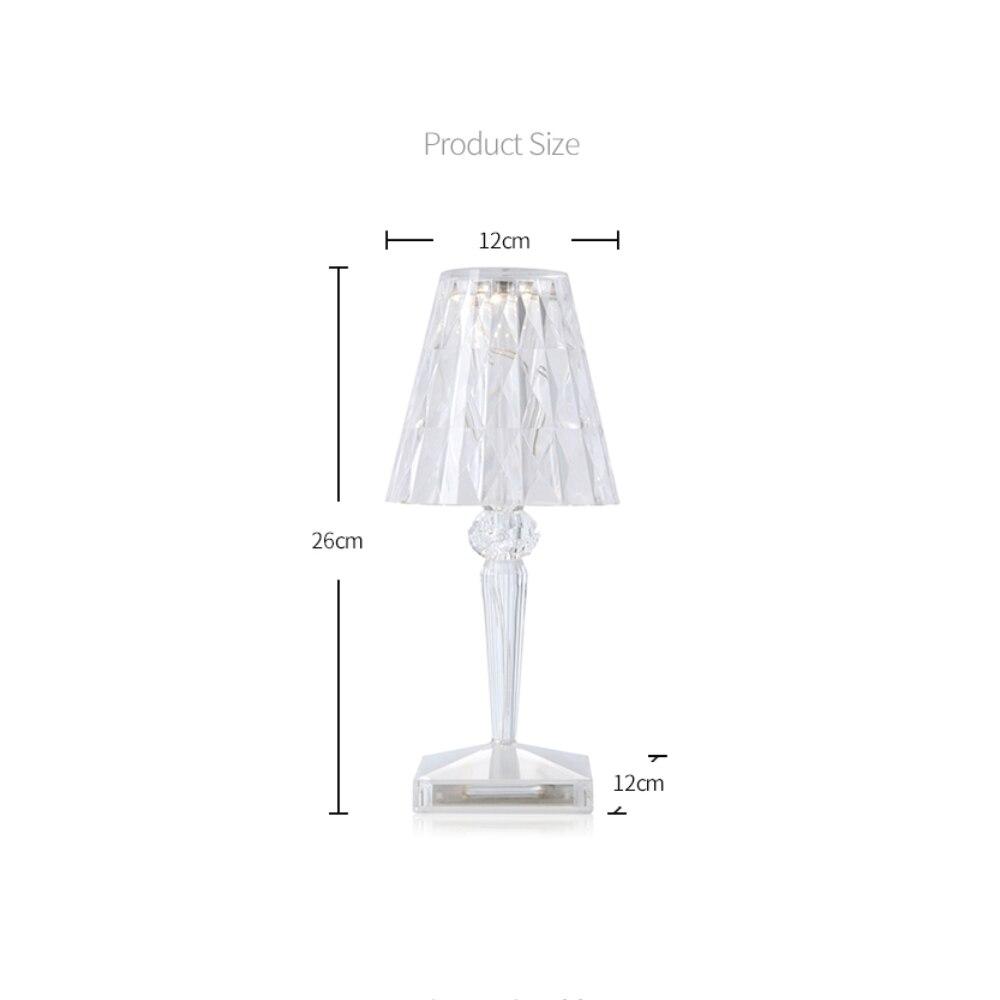 Acryl Table Lamp for Bedroom Living Room Desk Lamp Study Crystal Art Deco Beside Ghost Night Lights Lighting Room Decoration enlarge