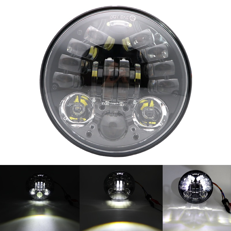 1 шт., 5,75 inch70WHigh/Lowbeam, круглый светодиодный фонарь для мотоцикла, модели Softail Dyna и Sportster