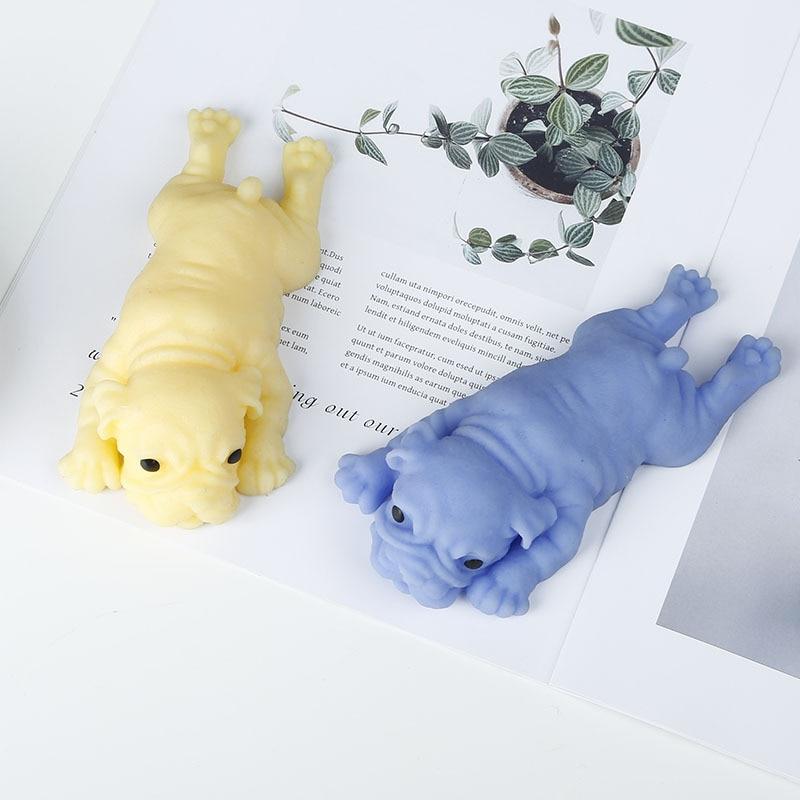 Squishy bonito cão porco anti-stress bola squeeze lento subindo suave pegajoso alívio do estresse engraçado presente truque brinquedos para crianças adultos