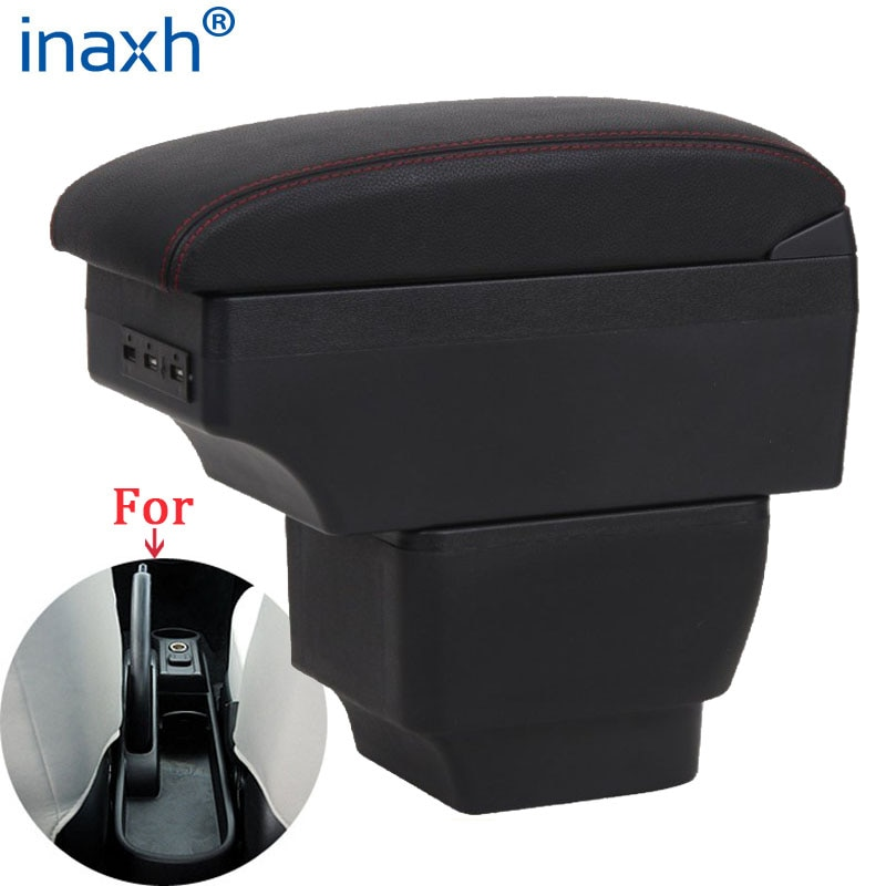 For MAZDA MAZDA 2  Armrest Interior Parts 2017 Car Armrest box Retrofit parts Storage box car accessories Interior with USB LED for suzuki swift armrest box 2005 2019 car armrest car accessories interior storage box retrofit parts usb 2011 2014 2017 2018