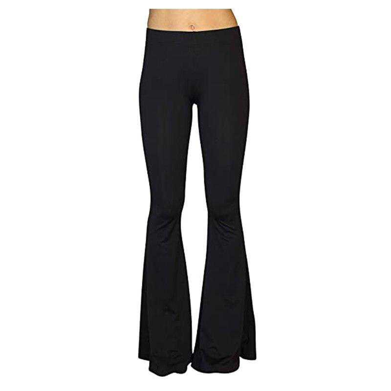 Женские леггинсы с высокой талией 2021 модные сексуальные брюки удобные этнический стрейч Palazzo 70s клеш Fit Брюки-клеш
