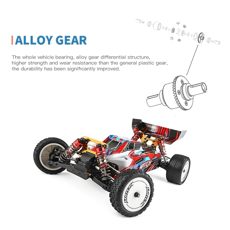 RC Car 1:10 Competition 60KM/H Metal Chassis 4WD Electric High Speed Drift Off-Road Car Radio Remote Control Toys for Children enlarge