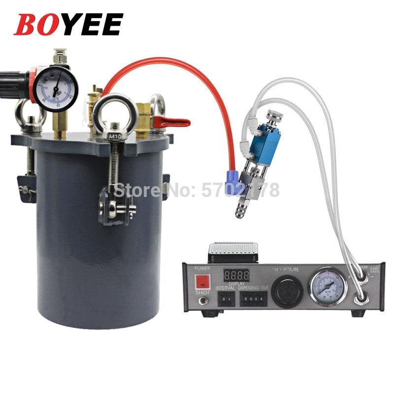 موزع الغراء التلقائي لحام لصق 220 فولت 110 فولت سعة كبيرة الغراء دلو السائل تحكم قطارة السائل موزع
