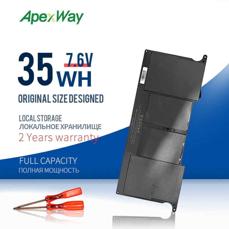 ApexWay-بطارية كمبيوتر محمول 7.6 فولت ، لجهاز Apple MacBook Air 11