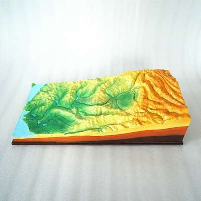 Terrain and surface combination model geography teaching instrument plain hilly basin mountain plateau