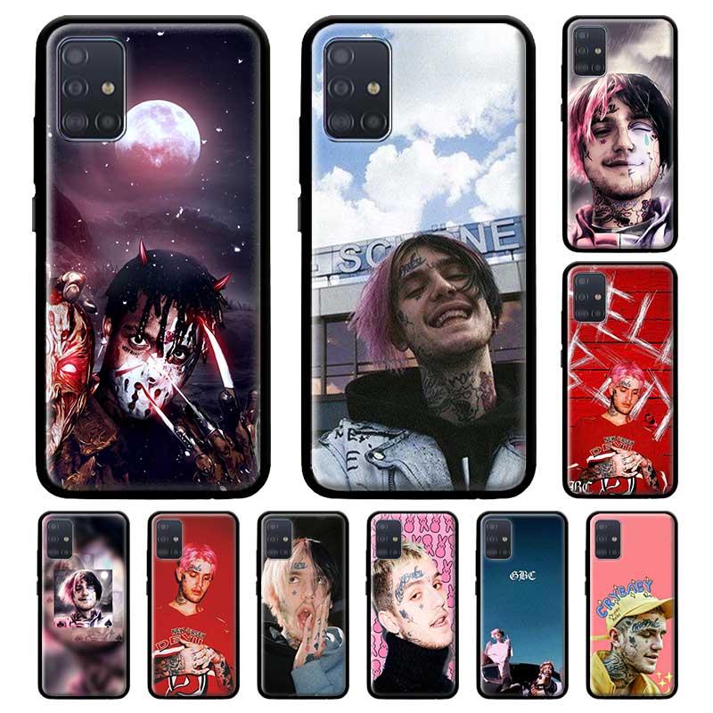 Lil Peep Lil Bo Peep caso para Samsung Galaxy A71 A51 M30s M51 A41 A31 A21s A11 A01 M31 M21 negro Capa Tpu funda de teléfono Shell