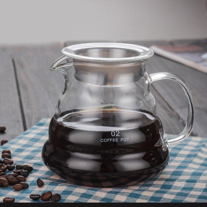 Nuvem Em Forma de Pote de Café de vidro Resistente Ao Calor Bule de Café Chaleira de Café Reutilizáveis Bule Utensílios de Café 360/600/800ml