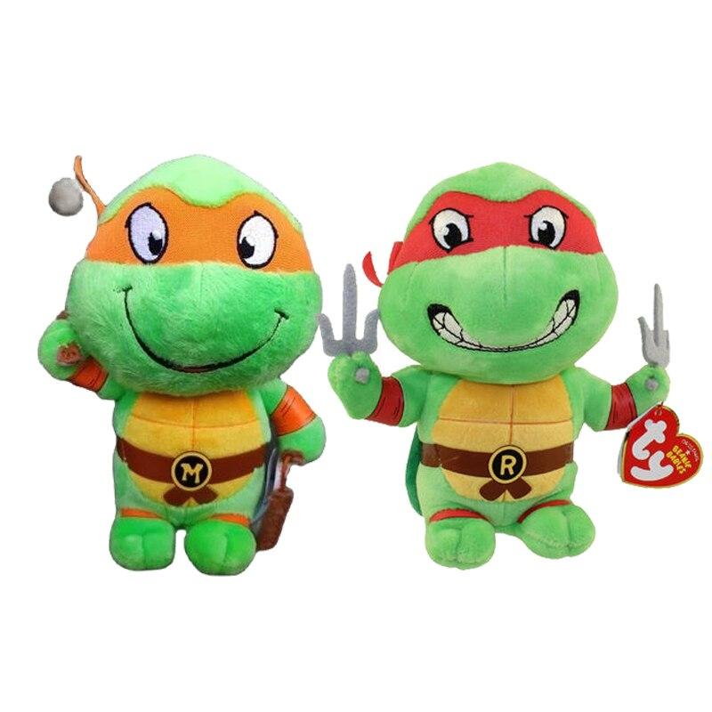 Ty шапочка «большие глаза», мягкие плюшевые игрушки для животных зеленой черепахи коллекции Симпатичные Черепаха серии игрушка Детские кук...