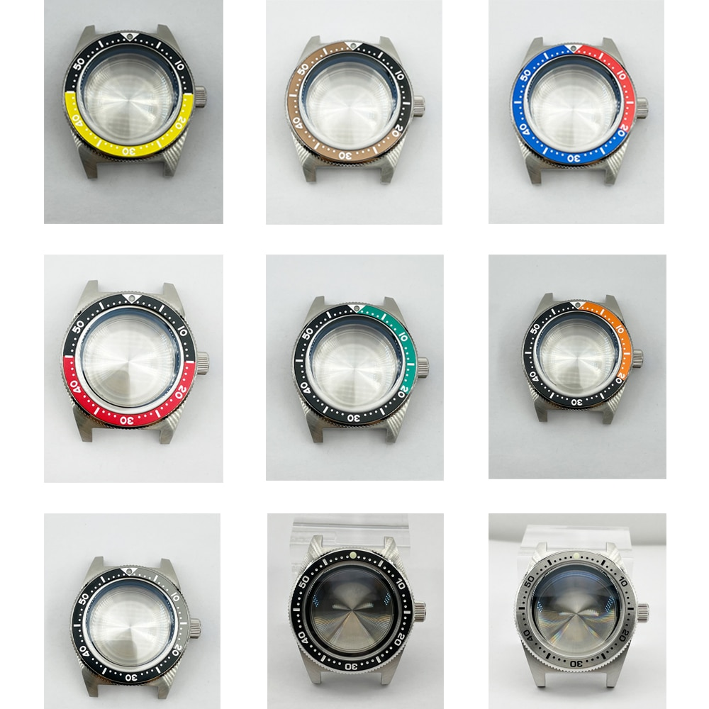 Watch Parts 40.5mm Stainless Steel 62MAS Watch Case Sapphire Pot Cover Bubble Watch Mirror Fit NH35 Automatic Movement enlarge