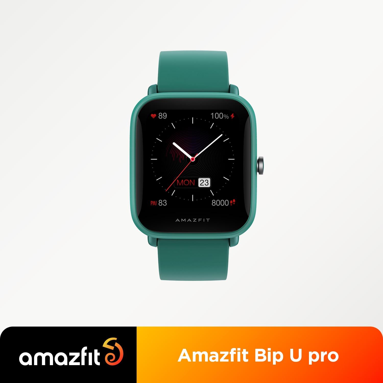 الأصلي العالمي Amazfit Bip U برو Smartwatch 1.43 بوصة 50 ساعة تواجه شاشة ملونة لتحديد المواقع ساعة ذكية للهاتف أندرويد iOS