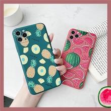 Moskado Watermeloen Fruit Patroon Telefoon Cover Voor Iphone 11 Pro Max X Xr Xs Max 7 8 7Plus Zachte siicone Tpu Case Ingericht Cover